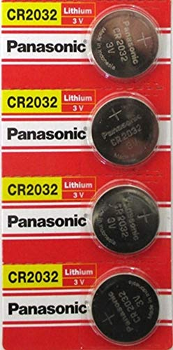 (4pcs) PANASONIC Cr2032 3v Lithium Coin Cell Battery for Misfit Shine Sh0az Personal Physical Activity Monitor by Panasonic (Monitor Activity Shine)