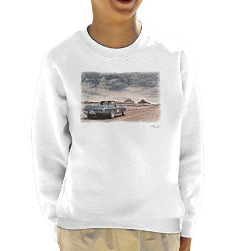 Chevrolet Corvette Stingray Convertible Desert Drive White Kid's Sweatshirt - Corvette Sweat-shirt