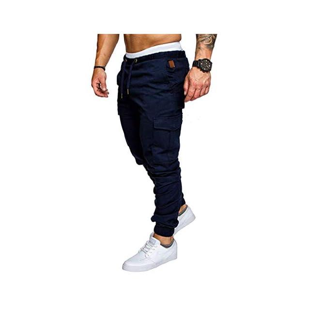 Socluer Homme Pantalons Casual Jeans Sport Jogging Slim Fit Militaire Cargo  Montagne Baggy Pants Multi Poches ... e8657c56163