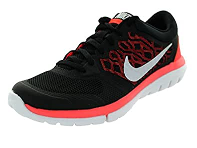 Nike Women's Wmns Flex 2015 RN Running Shoes, Black (Black / White-Hot Lava), 8.5