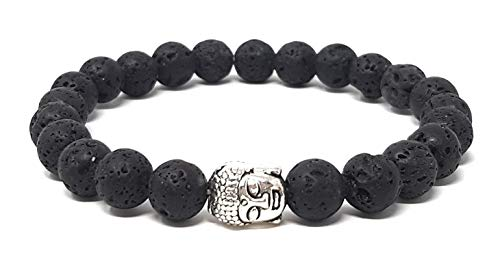 Buddha Armband aus Lavastein – Yoga Armband mit hochwertiger Buddhismus Perle