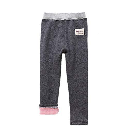 Yocobo Warme Mädchenhosen Komfort-Baumwollstretch-Mädchen Footless Leggings Strumpfhose Kinderhose in voller Länge Mädchenhosen (Farbe : Dunkelgrau, Größe : 18-24 Months)