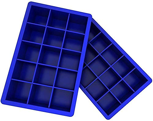 BBG Silikon-Formen für Backen Haltbare Silikon-Eis-Würfel-Behälter, Halten Getränk gekühlt, Lunker Eisbehälter für Whisky und Cocktail, 2er-Pack Silikon-Eiswürfelformen Backform Snake