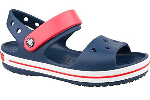 Crocs kids crocband -red sandals navy in size 34-35