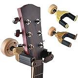 Gitarrenwandhalter, Gitarrenaufhänger mit automatischer Verriegelung, Wandhalterung für Zuhause, Studio, Gitarre, Bass, mehrere Instrumente annatto