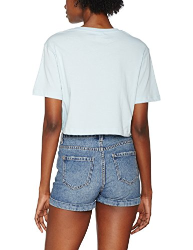 Urban Classics TB1555 Damen T-Shirt Ladies Short Oversized Tee Babyblue