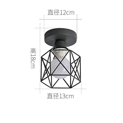 B Deckenleuchte grauer Sockel + graue Lampenabdeckung enthält keine Lichtquelle (Gold Mini-kuchen-sockel)