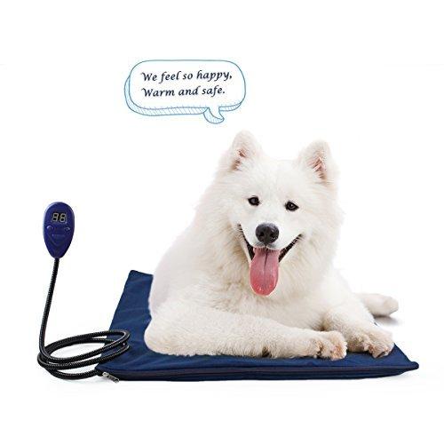 PETLESO Hund Heizkissen - Wasserdichte heizmatte hund Heizkissen für Haustiere Hunde & Katzen mit UL-Zertifikat,Blau