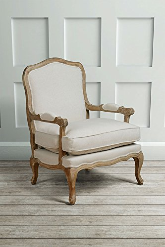 MY-Furniture - French Louis Style shabby chic OAK Dining Occasional ArmChair - Le Brun