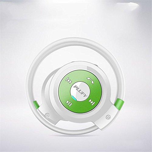 MOGUU Vogue Hochauflösende Audio - Qualität Drahtlose Bluetooth - Headset - Sport - Fitness - Doppelte Ohrring Stereo - Kopfhörer,Grüne Headphones Earphones Kopfhörer