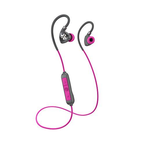 JLab Audio Fit Bluetooth 2.0Wireless Sport In-Ear Titan 10mm Treiber 6Stunden Akku-Lebensdauer Bluetooth 4.1IP55Sweat Proof Rating Extra Gel Tipps Flexible Memory-Draht (Jlabs Bluetooth)