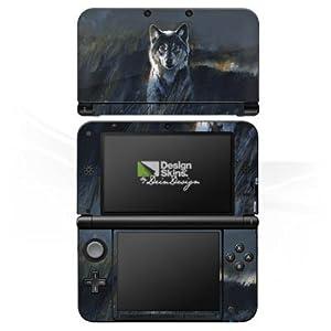 DeinDesign Skin kompatibel mit Nintendo 3 DS XL Folie Sticker Wolf Natur Düster