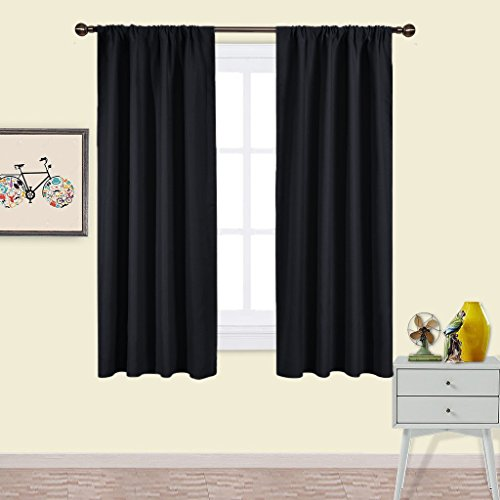 Living Room Blackout Curtains Drapes   PONY DANCE Window Treatments Thermal  Insulated Rod Pocket Blackout Curtain Panels / Drape For Bedroom U0026 Home, ...