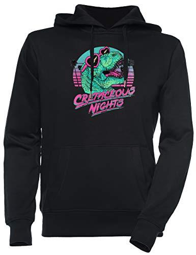 Jergley Cretaceous Nights Unisex Schwarz Sweatshirt Kapuzenpullover Herren Damen Größe L | Unisex Sweatshirt Hoodie for Men and Women Size L