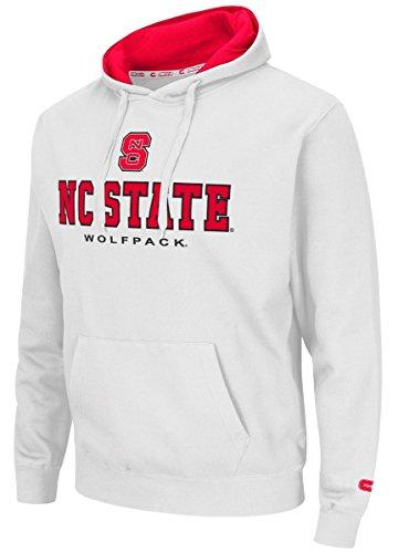 "North Carolina State Wolfpack ""Zone II"" Pullover Hooded Men's Sweatshirt - White"