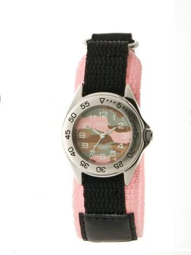 avia-809021-kids-pink-and-black-canvas-wrap-strap-analogue-watch