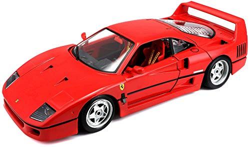 Bburago Maisto France. Ferrari F40 Original Series au 1/18&Egraveme par BBurago, 16601, Rouge,