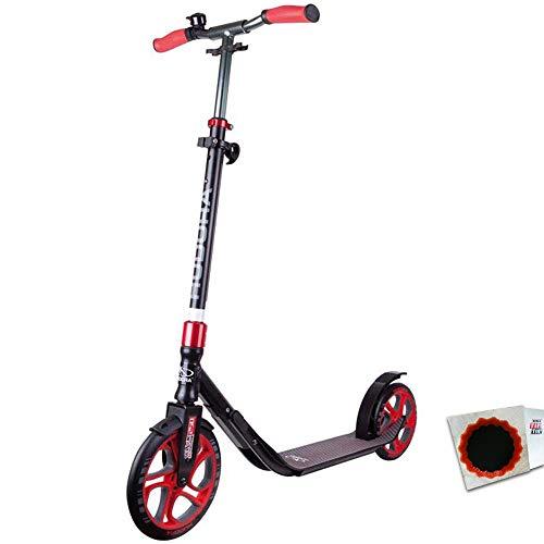 "HUDORA City Scooter CLVR 10\"" 250mm CLVR Faltmechanismus schwarz rot + Flicken"