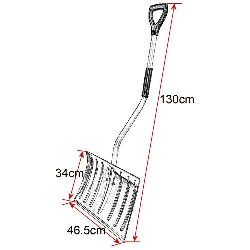 WOLTU #145 Schneeschaufel Schneeschieber Schneeschippe Aluminium Schaufel mit Thermogriff Länge:130cm(2751 Silber) - 8