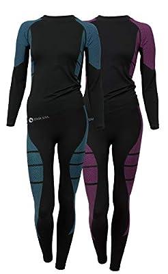 Damen Seamless Ski Funktionswäsche, Outdoor Unterwäsche, aus geschmeidigem Microfaser Material wählbar als Hose oder Hemd. Von Vincent Creation