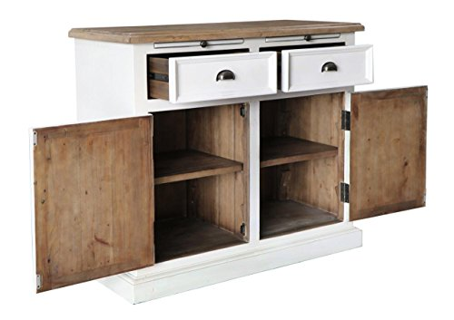 The Wood Times Kommode Schrank Massiv Vintage Look Vermont Kiefer FSC Recycled, BxHxT 100x90x45 cm - 3
