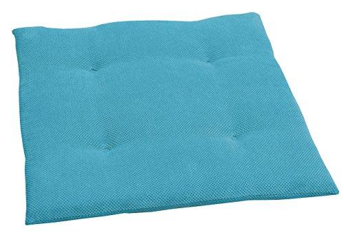 Coussin de chaise Sun Garden Johnny - 40 x 40 x 3 cm 4er Pack bleu ciel