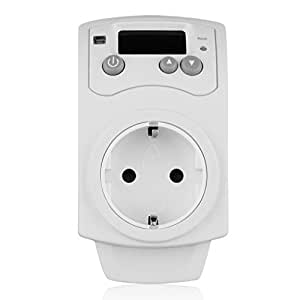 Prises Hygrostat Thermostat Testeur Humidité hygromètre Serre Plug en effet humidis Humidity Contrôleur