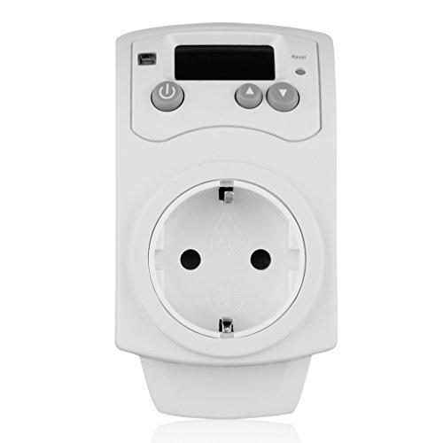 Steckdosen Hygrostat Thermostat Feuchtigkeits Prüfgerät Hygrometer Gewächshaus Plug in Humidistat Humidity Controller