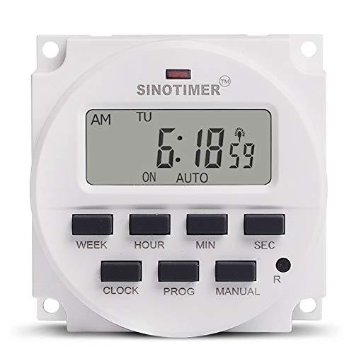 Ocamo 5 V Home 7 Tage programmierbarer Lichtschaltuhr, digital, programmierbar, Präzisions-Timer