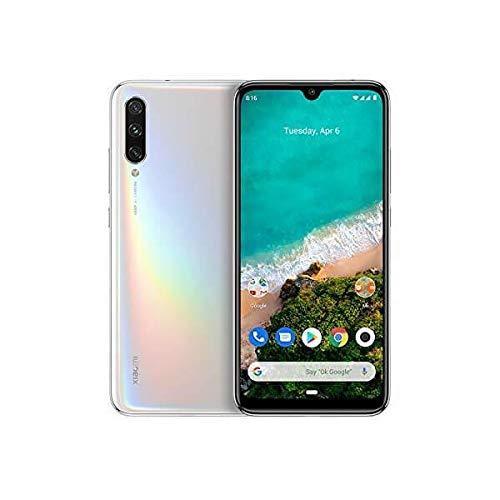 "Xiaomi Mi A3 Smartphone, 4GB RAM 128GB ROM Mobilephone, Pantalla AMOLED de 6,088"",Procesador Qualcomm Snapdragon 665 AIE,Triple cámara con IA (48 MP+8MP+32MP) versión Global (Blanco Puro)"