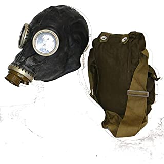 OldShop Gas Mask GP5 Set - Soviet Russian Military Gasmask REPLICA Collectable Item Set W/ Mask, Bag & Bonus Anti-Fog Stickers Included - Authentic Look & Several Color: Black | Size: XS