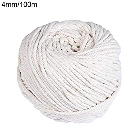 Cuerda en macramé de algodón Beige, 4mm/100m