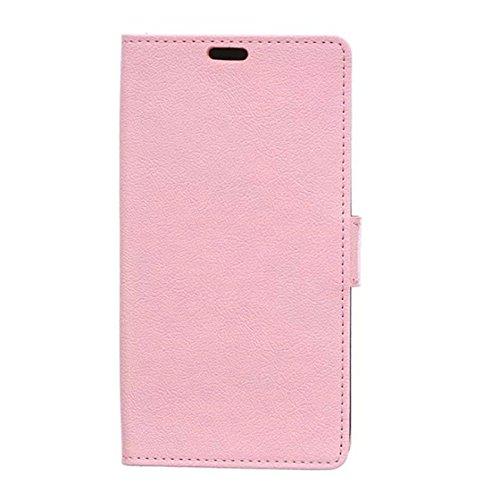 Meizu M5S Case,Tianqin Custodia per portafoglio in stile classico con chiusura magnetica con staffa a staffa con slot per carte e tasca nascosta Pelle di alta qualità(PU)for Meizu M5S (Rosa)