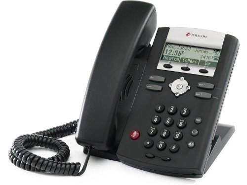 Polycom 2200-12360-025 Desktop Telefon VoIP SoundPoint IP321 schwarz Intercom-desktop