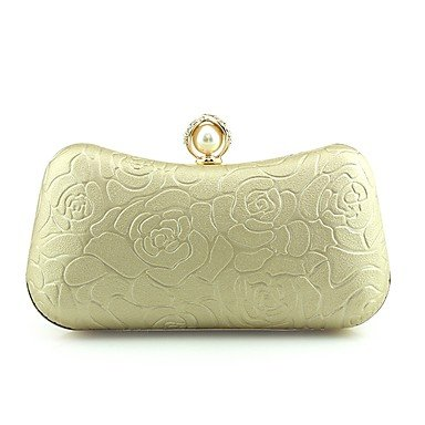 pwne Frauen Abend Tasche Pu-Frühling/Herbst Alle Jahreszeiten Hochzeit Event / Party Casual Formal Outdoor Büro & Amp; Karriere Hobo Pearl Details Metall Kette Silver