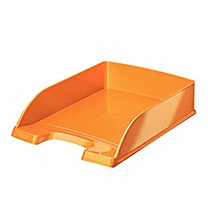Leitz A4 Letter Tray, Metallic Orange, WOW Range, 52263044