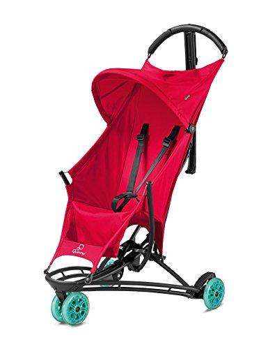 Quinny Yezz Buggy (federleicht (nur 5 kg), zusammengeklappt einfach über die Schulter zu tragen, komfortable Sitzfläche aus Fallschirmmaterial, Staufach am Rücken) rot