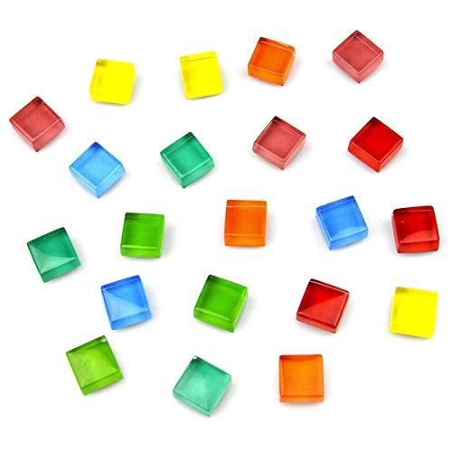 Büro Magnete Küche Magnete Kühlschrank Magnete Kühlschrank Magnete für Whiteboard Magnete für Dry Erase Board Multicolor quadratisch Glas niedlicher bunter Fun Dekoration