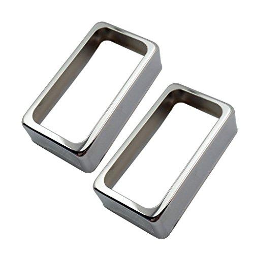 Homyl 2 Pezzi In Ottone Aperto Humbucker Pickup Covers Per Accessori Per Chitarra Elettrica - Argento, come descritto