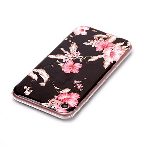 Custodia iPhone 7 / 8 - Cover in Silicone TPU - Surakey iPhone 7 Custodia Oro Rosa Slim Ultra Sottile Gomma Morbida Gel Case 3D Modello di Colorate Antigraffio Antiurto Protezione Posteriore Caso Fles Modello#5