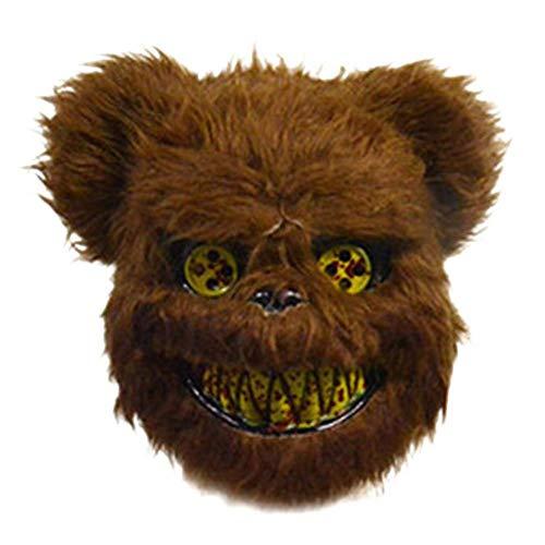 Braunbär Maske - HoaJeo Blutig Horror Cartoon Tier Maske