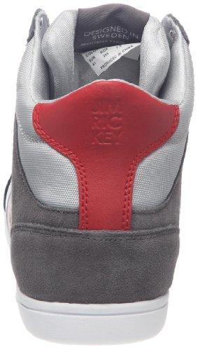 Jim Rickey Carve Mid Dk Grey, Baskets mode homme Gris foncé/rouge