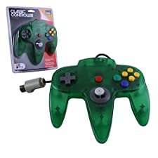 Manette Nintendo 64 N64 Verte Transparente Controller De Jeu (forme officielle) - NXN64-063
