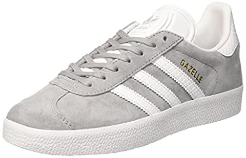 adidas Gazelle, Baskets Basses Femme, Gris (Mid Grey /ftwr White/gold Met.), 39 1/3 EU
