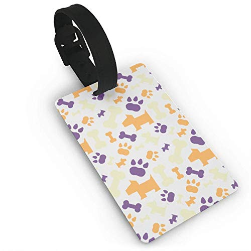 Purple Paw Luggage Tag Travel Accessories Business Card Holder