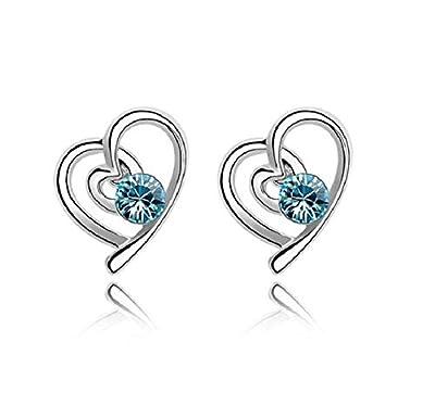 Hosaire Fashion Necklace Earrings Bracelet Heart Style Diamond Crystal Elegant Women Jewellery Set of Crystal Pendant Necklace+Earrings+Bracelet from Hosaire