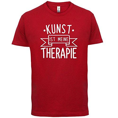 Kunst ist meine Therapie - Herren T-Shirt - 13 Farben Rot