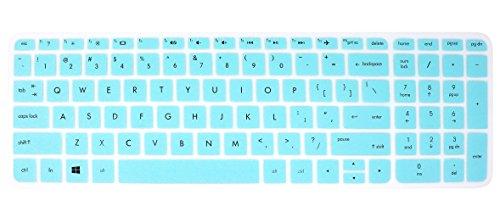 Elastische Silikon Tastatur Cover Skin für 39,6cm HP Pavilion 15-ab 15-ac 15-ae 15-af 15-an 15-ak 15-as 15-ay 15-au 15-ba 15-bc 15-bk 15-ax Serie, HP ENVY X360m6-ae151dx m6-p113dx m6-w (Skins Für Hp Pavilion X360)