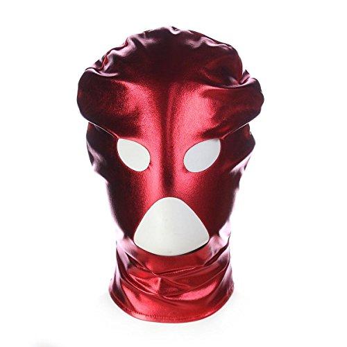 Ganzkörper Kostüm Nase - LLY LOVOE Mann und Frau Sex Flirt Patent Show Dreiecks Nase Verstellbare Bondage Kostüme Paare Stimulation leistungsstarke Bundle Bondage sexy Frauen Set, red