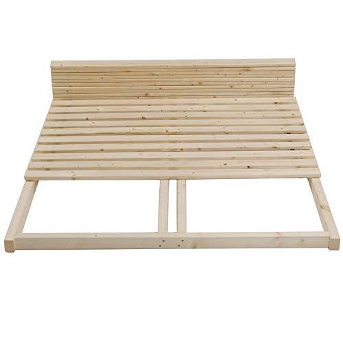 TUGA - Holztech stabiler unbehandelter Naturholz Lattenrost bis 300Kg Flächenlast für Bettgröße 160x200cm keine Kullen kein Durchhängen für Leicht - u. Schwergewichte Palettenbett
